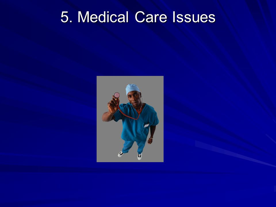 5. Medical Care Issues