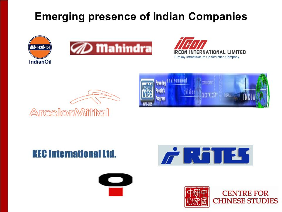 Emerging presence of Indian Companies