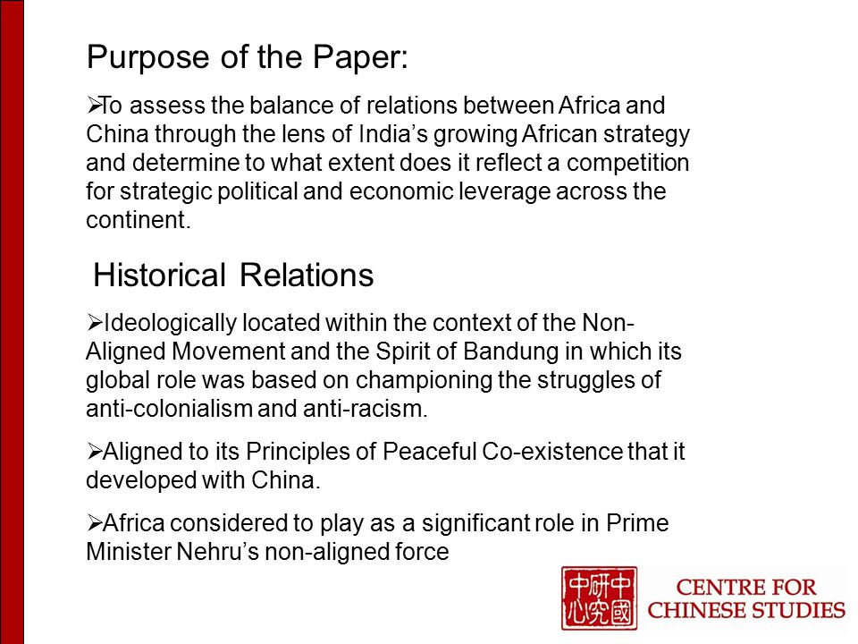 The Big Policy Questions  How will Africa respond to China and India competing for influence and economic leverage.