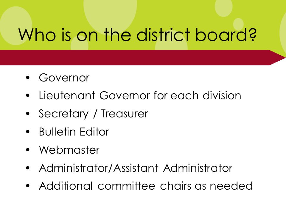 Who is on the district board.
