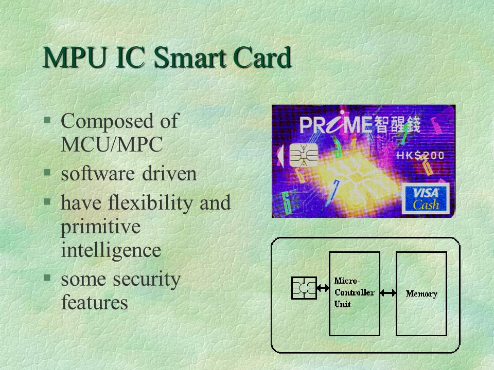 Contactless Smart Card §similar to contact smart card §with RF transceiver to increase robustness and security