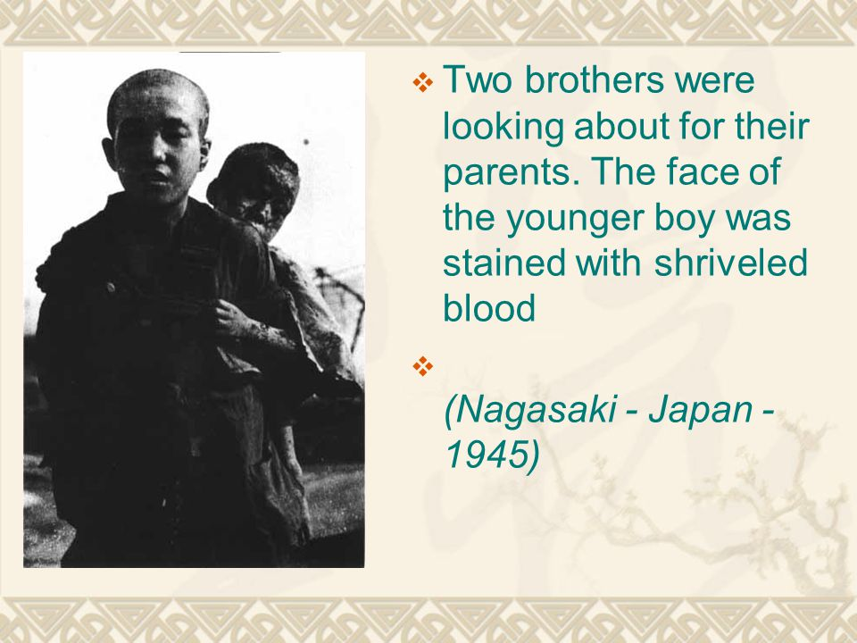 Two brothers were looking about for their parents.