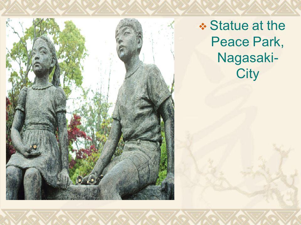  Statue at the Peace Park, Nagasaki- City