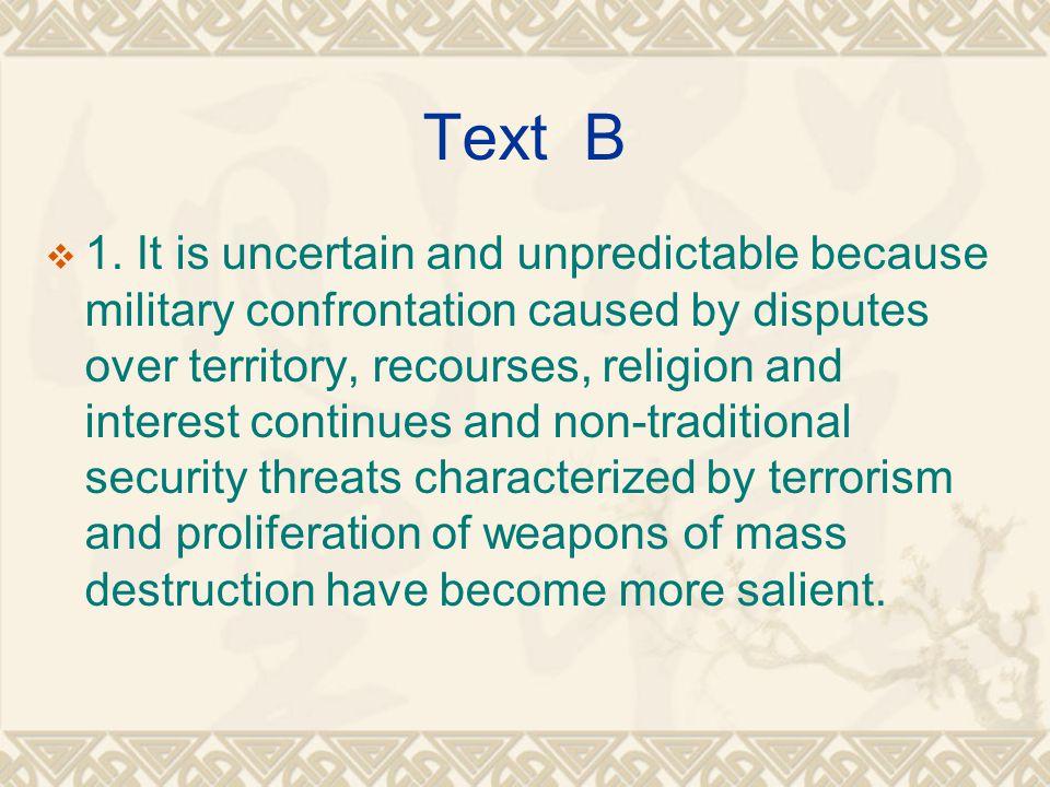 Text B  1.