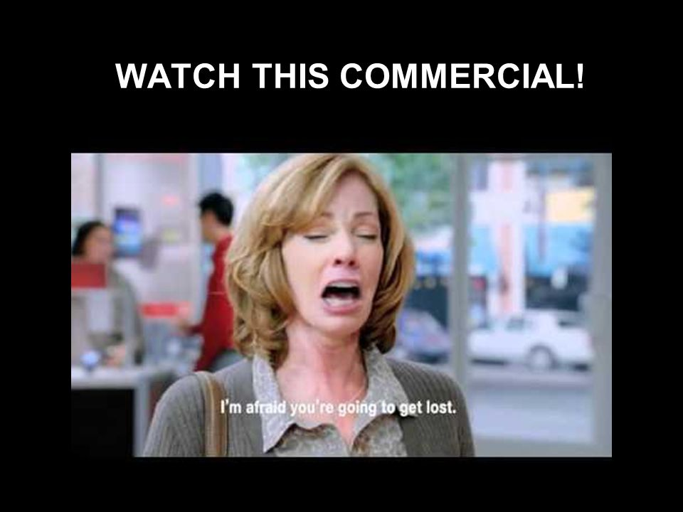 WATCH THIS COMMERCIAL!