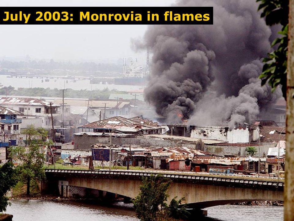 Bushrod Ablaze July 2003: Monrovia in flames