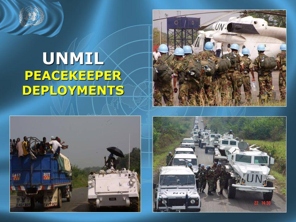 UNMIL PEACEKEEPER DEPLOYMENTS