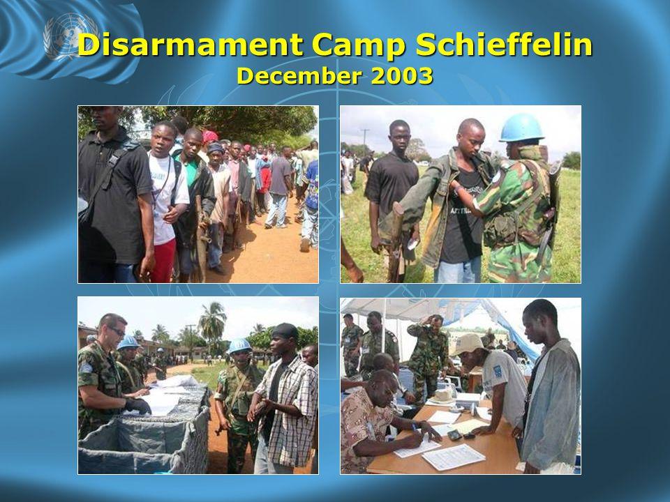 Disarmament Camp Schieffelin December 2003