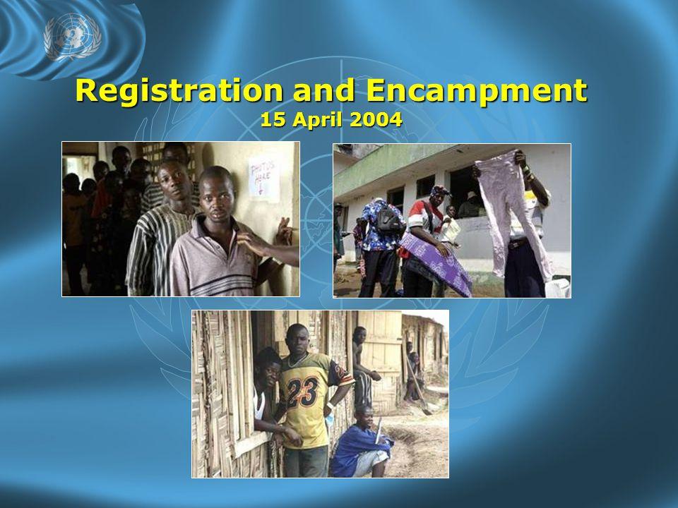 Registration and Encampment 15 April 2004