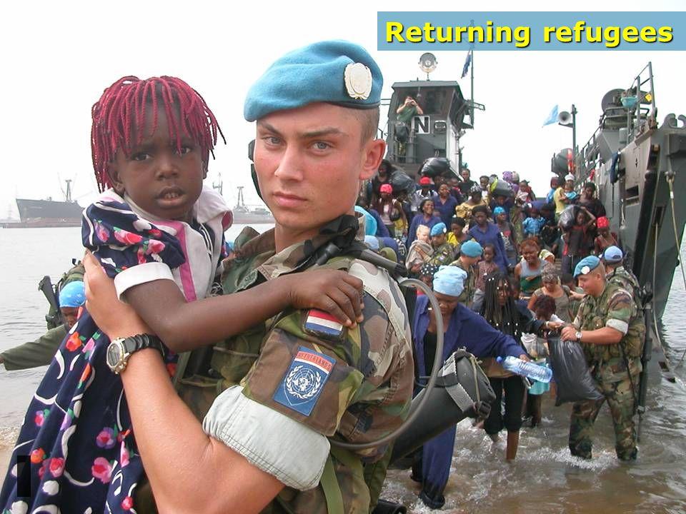 Returning refugees