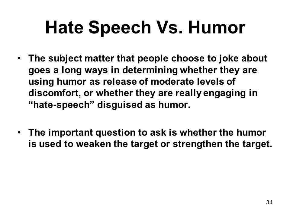 Hate Speech Vs.