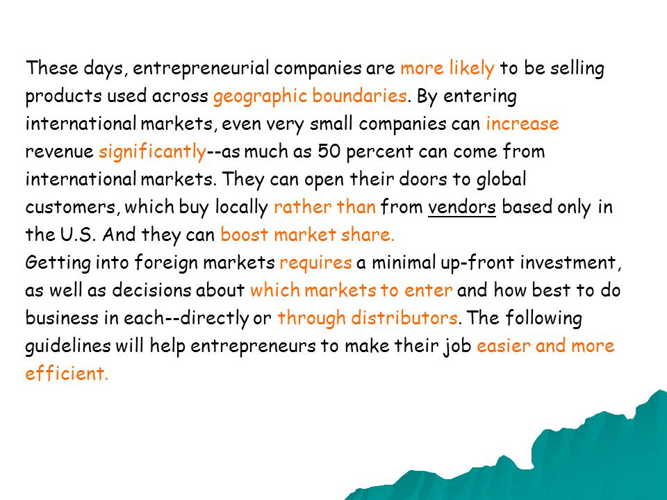 These days, entrepreneurial companies are ………………..