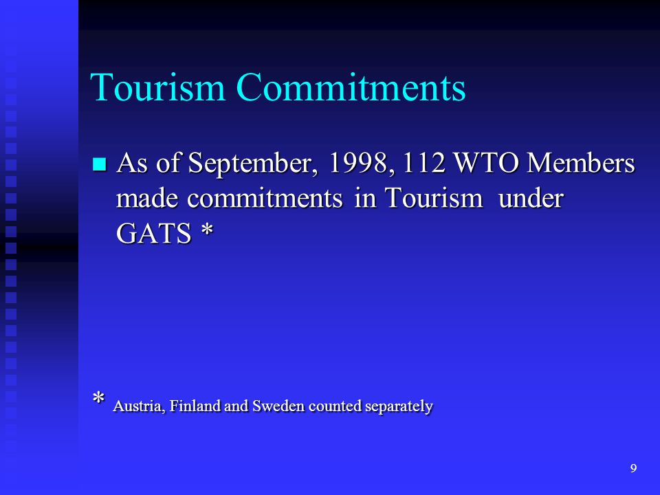 20 REQUESTS re Tourism REQUESTS re Tourism #1 Reduce costs and facilitate access to visas for the temporary entry of tourism professionals wishing to enter the EU, US and Canadian markets to supply services.