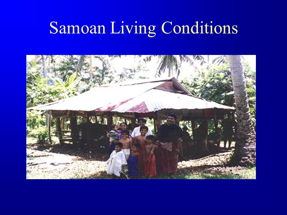 Samoan living conditions
