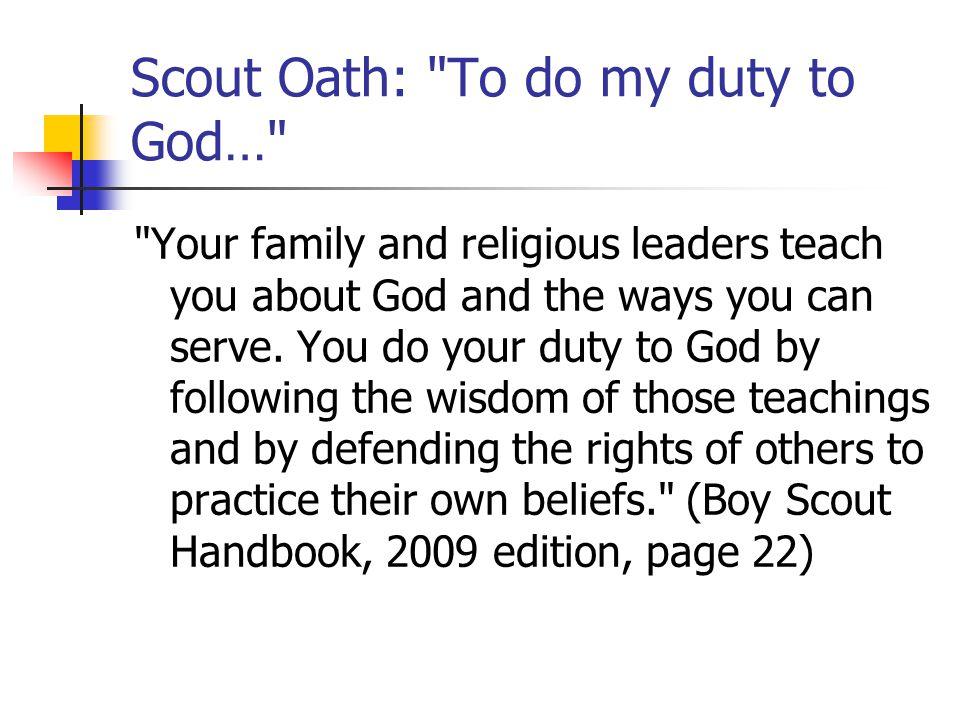 Scout Oath: