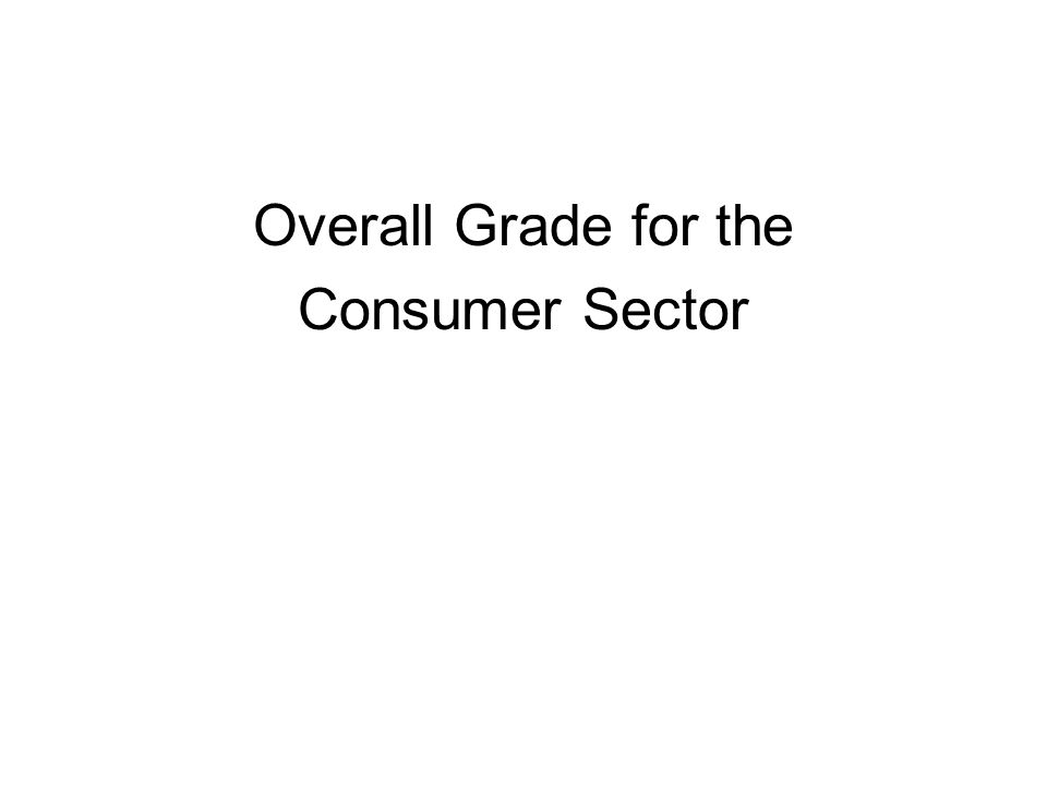 Overall Grade for the Consumer Sector