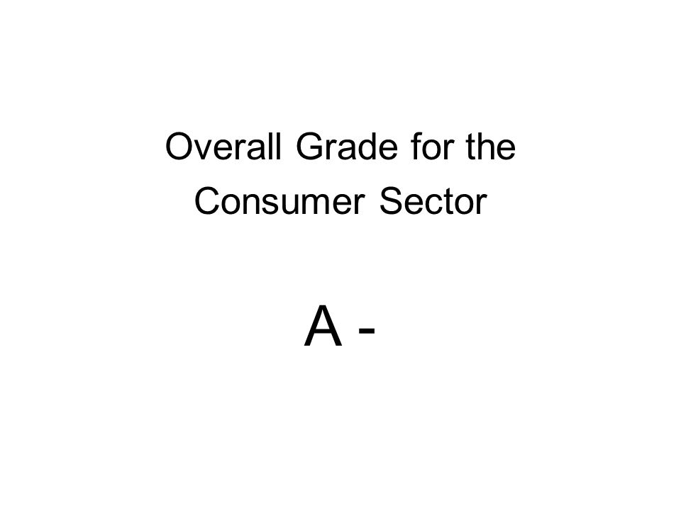 Overall Grade for the Consumer Sector A -