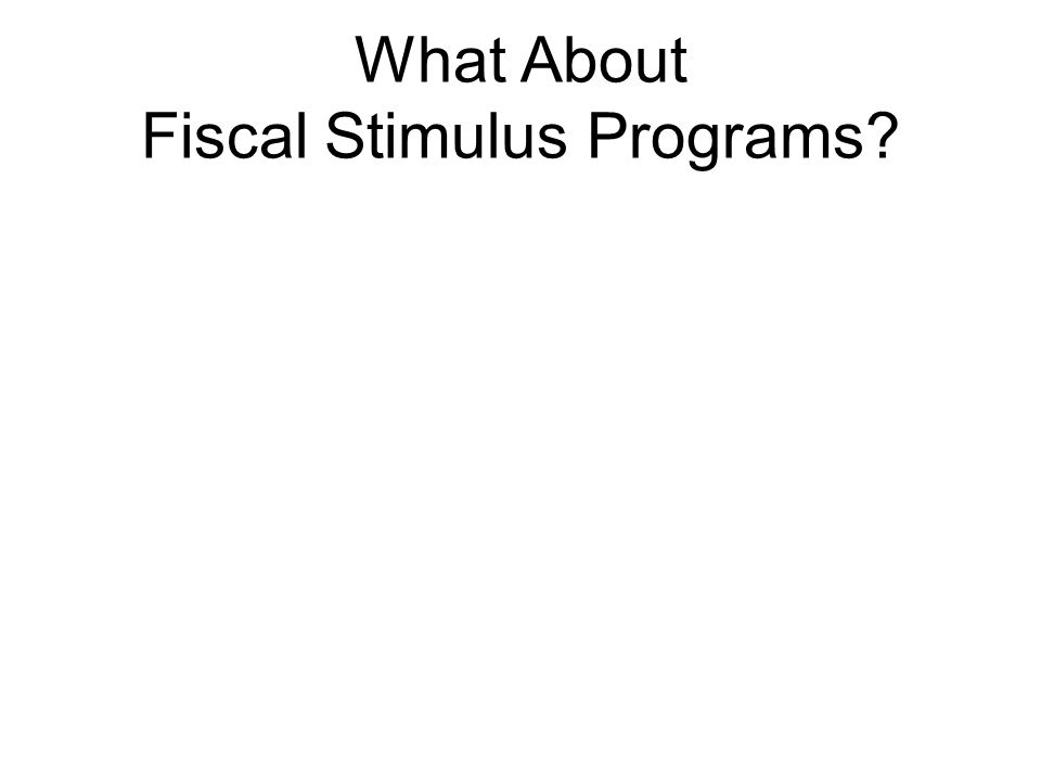 What About Fiscal Stimulus Programs
