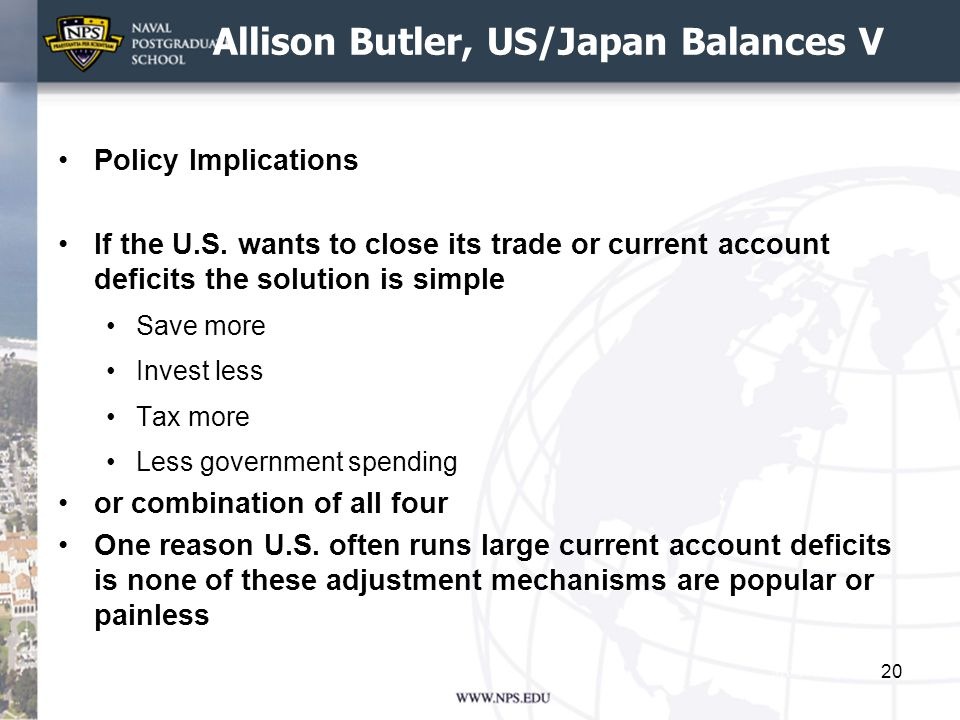 Allison Butler, US/Japan Balances V Policy Implications If the U.S.