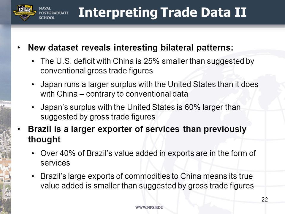 Interpreting Trade Data II New dataset reveals interesting bilateral patterns: The U.S.