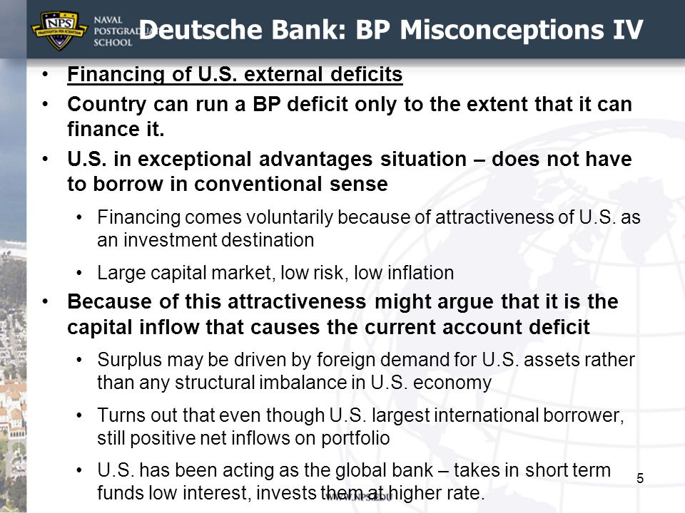 Deutsche Bank: BP Misconceptions IV Financing of U.S.