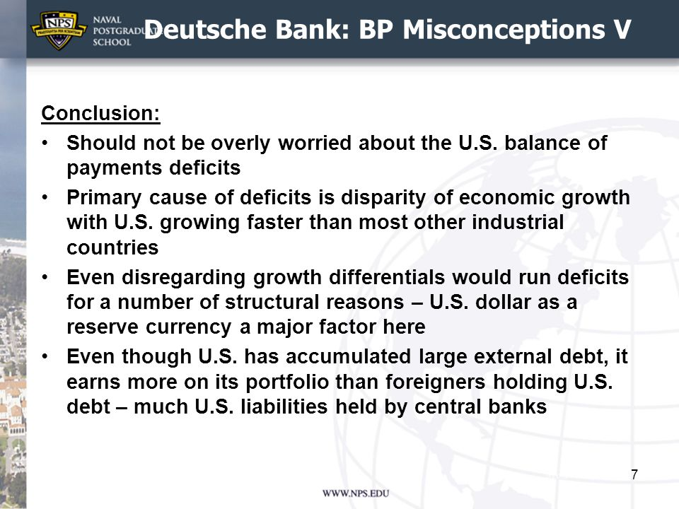 Deutsche Bank: BP Misconceptions V Conclusion: Should not be overly worried about the U.S.