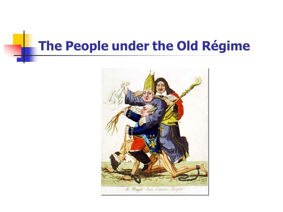 The People under the Old Régime