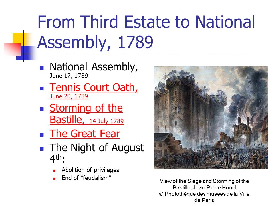 From Third Estate to National Assembly, 1789 National Assembly, June 17, 1789 Tennis Court Oath, June 20, 1789 Tennis Court Oath, June 20, 1789 Stormi