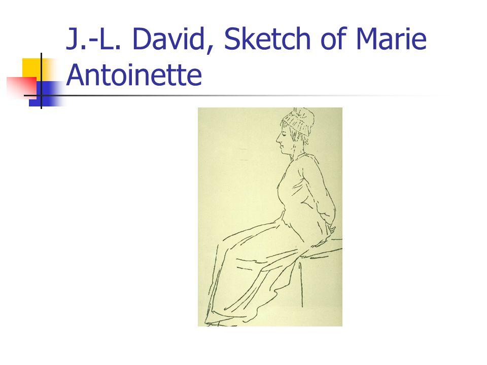 J.-L. David, Sketch of Marie Antoinette