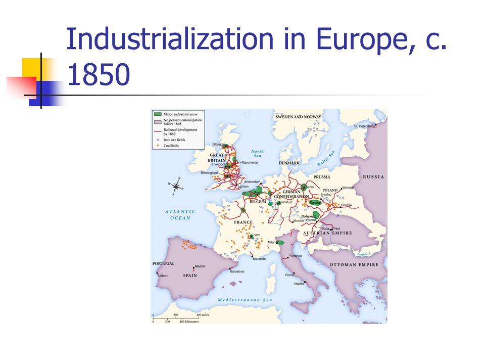Industrialization in Europe, c. 1850