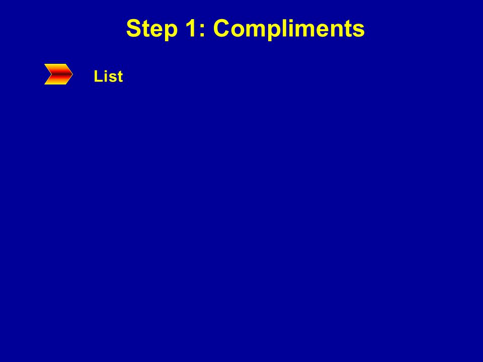 Step 1: Compliments List