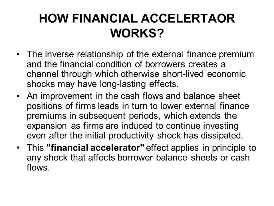 HOW FINANCIAL ACCELERTAOR WORKS.