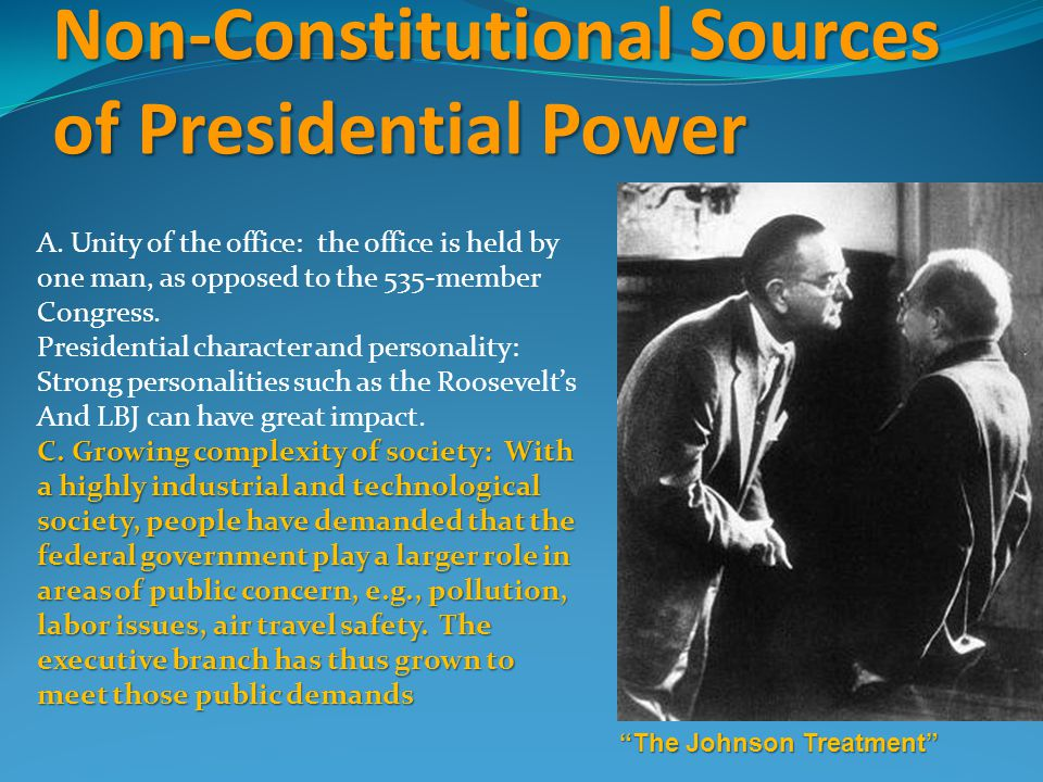Non-Constitutional Sources of Presidential Power A.
