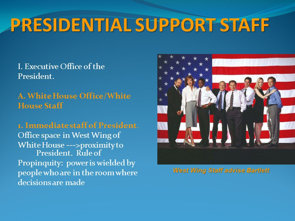 PRESIDENTIAL SUPPORT STAFF I.Executive Office of the President.
