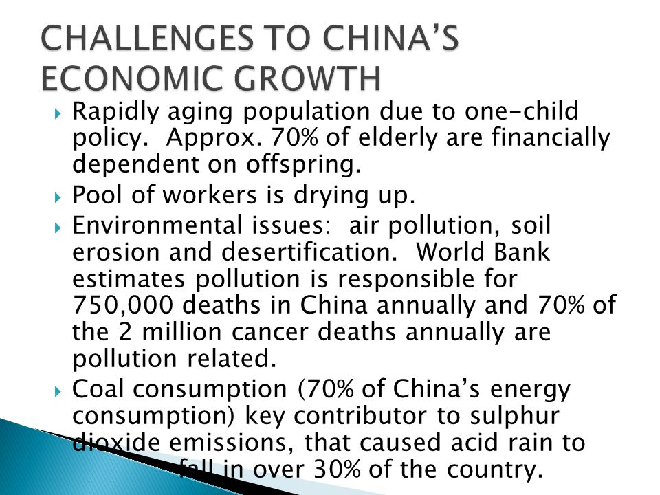  China required to implement tighter regulations and stricter controls.