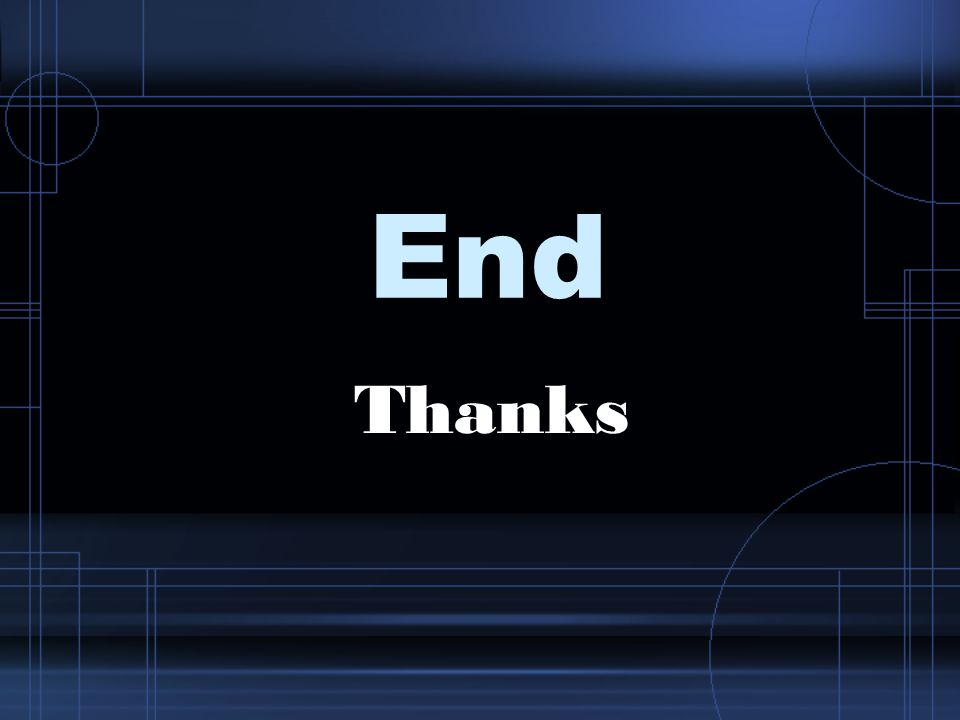 End Thanks