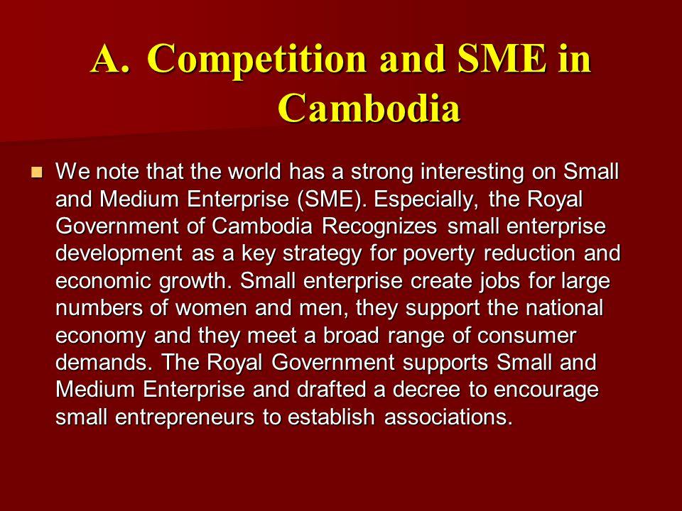 F.SME Development Programs (cont.) a.