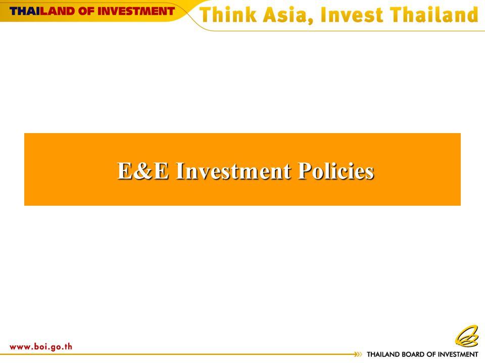 E&E Investment Policies E&E Investment Policies