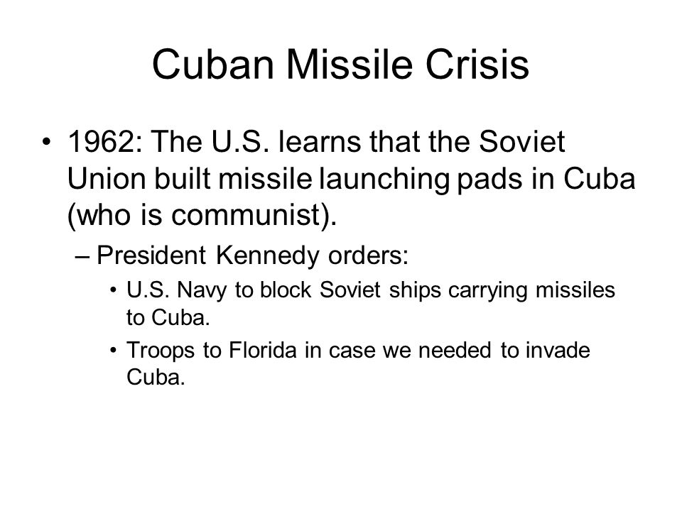 Cuba is 90 miles from Florida!