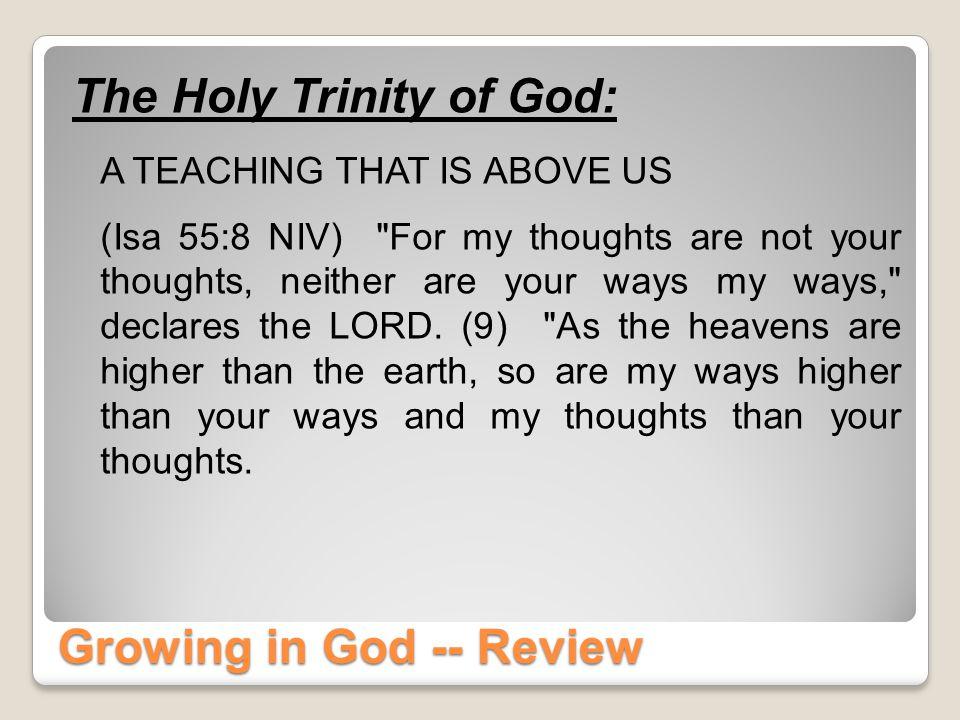 God The Trinity How God Does It October 15, 2014