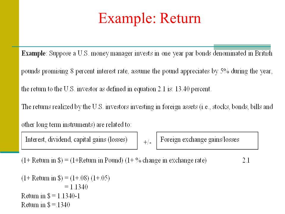 Example: Return
