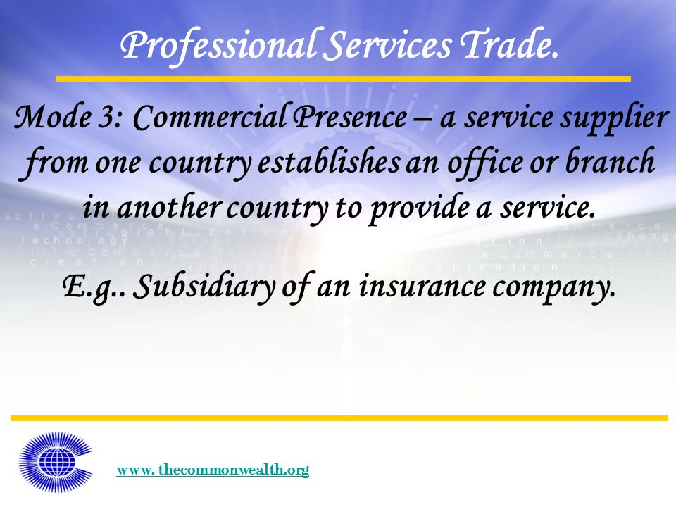 www. thecommonwealth.org Professional Services Trade.