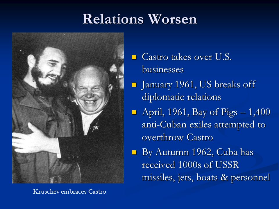 Relations Worsen Castro takes over U.S.
