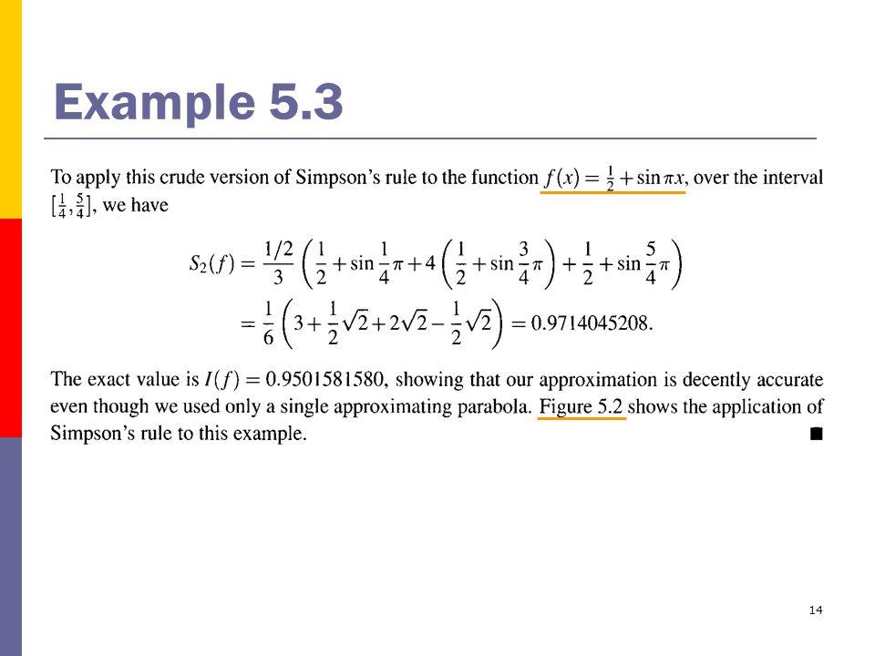 14 Example 5.3