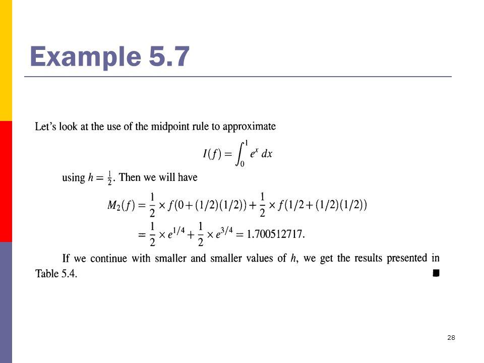 28 Example 5.7