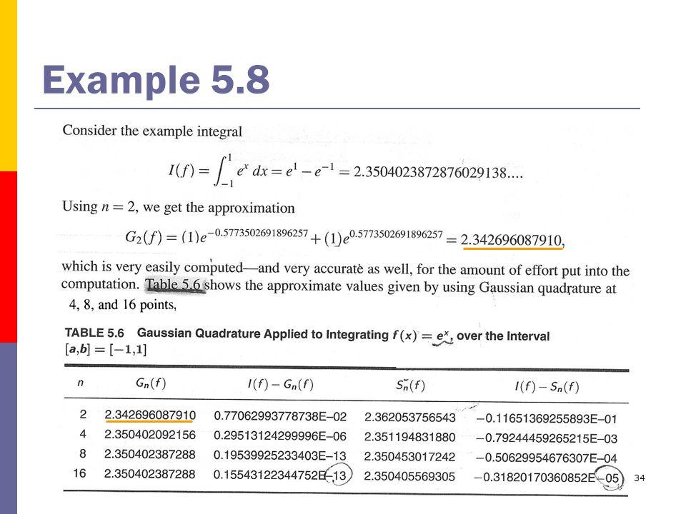 34 Example 5.8