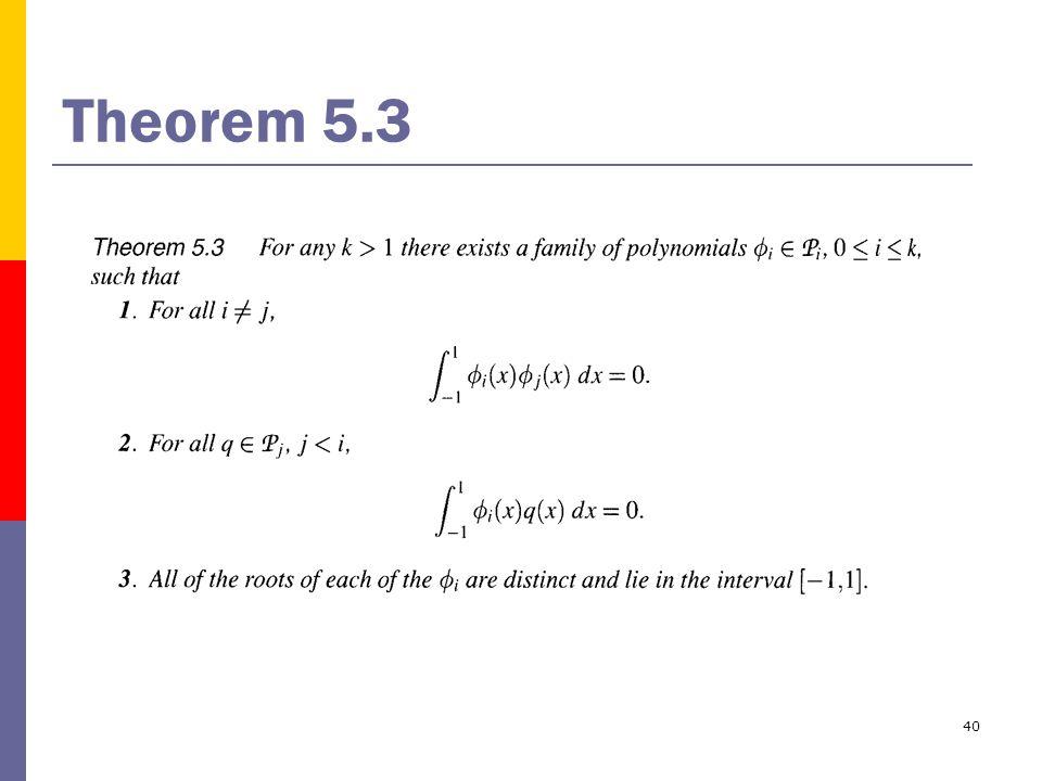 40 Theorem 5.3