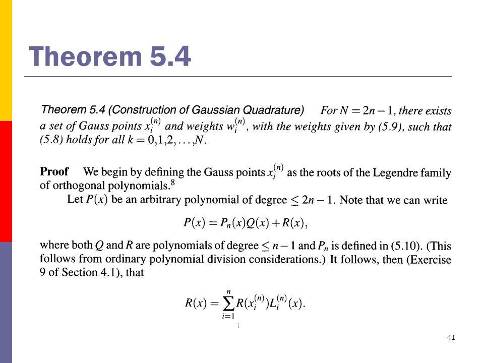 41 Theorem 5.4