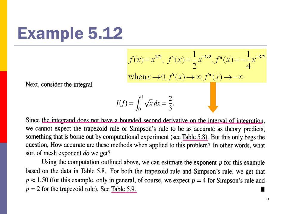 53 Example 5.12