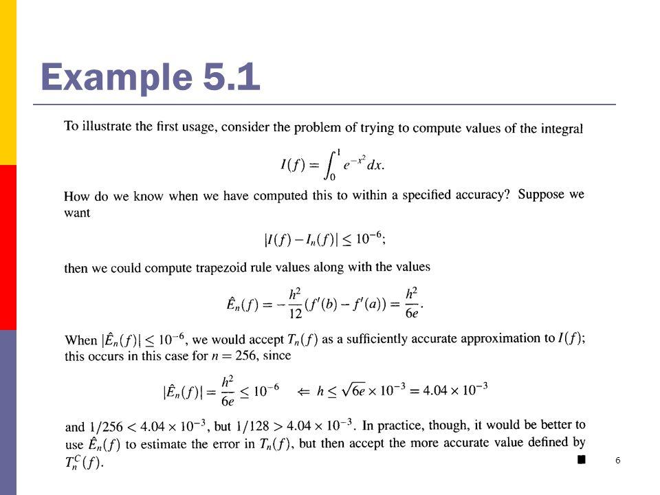 6 Example 5.1